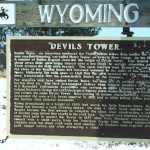 Devils Tower Highway Sign