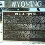 Devils Tower Highway Sign