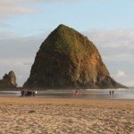 Haystack Rock in all it's mossy glory