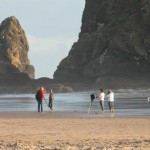 Photography is a beachtime pastime at Cannon Beach