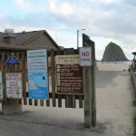 Beach entrance on Ecola Street